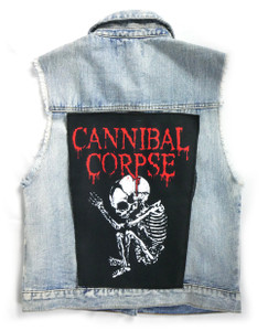 """Go Rocker - Cannibal Corpse Butchered at Birth  13.5"""" x 10.5"""" Color Backpatch"""