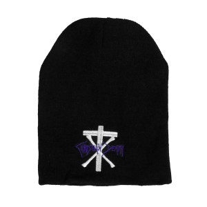 Christian Death Logo Embroidered Knit Beanie