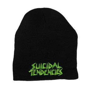 Suicidal Tendencies Logo Embroidered Knit Beanie