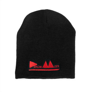 Depeche Mode Red Logo Embroidered Knit Beanie