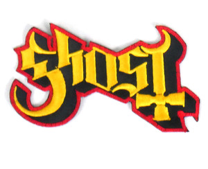 """Ghost Red and Yellow Logo 5x2"""" Embroidered Patch"""