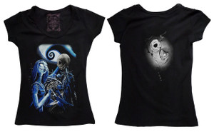 The Nightmare Before Christmas - Jack & Sally Blouse T-Shirt