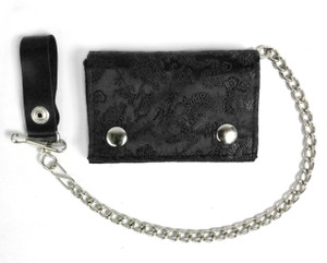 Black Brocade Wallet