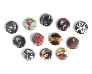 12 Piece Pin Lot - Kreator, Transmetal, Mago de Oz + More!