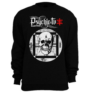 Psychic TV Skull TV Crew neck Sweatshirt