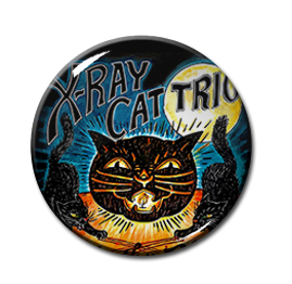 "X-Ray Cat Trio - Out For Blood 1"" Pin"