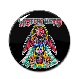 "Koffin Kats - Coffin Cat Devil 1"" Pin"