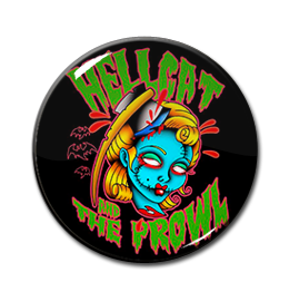 "Hellcat and the Prowl - Grave Mistake 1"" Pin"