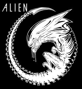 "Alien - Xenomorph Queen 4x4"" Printed Sticker"