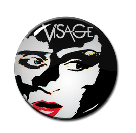 "Visage - Face Art 1"" Pin"