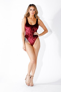 K Too - Velvet Burgundy Bodysuit