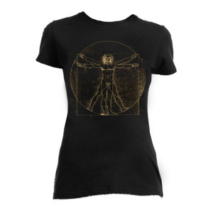 Da Vinci Vitruvian Man Blouse T-Shirt