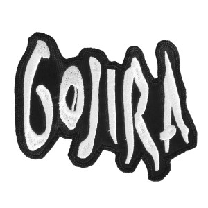 """Gojira Shaped Logo 5x3"""" Embroidered Patch"""