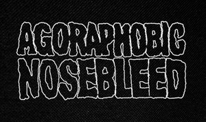"Agoraphobic Nosebleed Logo 5x3"" Printed Patch"