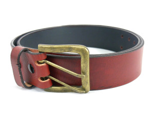 Brick Double Perforated Leather Belt