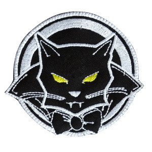 "Dracucat The Black Vampire Cat 3x3.5"" Embroidered Patch"