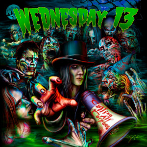 "Wednesday 13 - Calling All Corpses 4x4"" Color Patch"