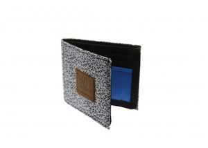 Antifashion - Gray with Black Lines Print Wallet