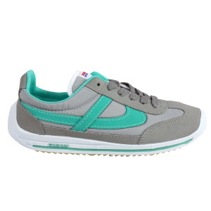 Panam - Gray and Aqua Synthetic Unisex Sneaker