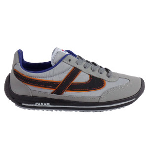 Panam - Gray and Black with Orange Synthetic Unisex Sneaker