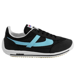 Panam - Black and Baby Blue Synthetic Unisex Sneaker