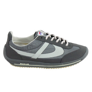 Panam - Gray with White Synthetic Unisex Sneaker
