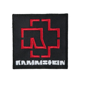 "Rammstein Logo 3x3"" Embroidered Patch"