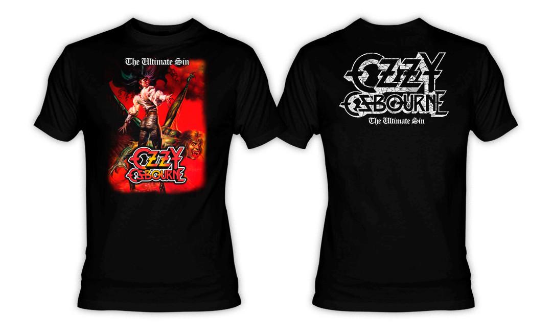 T-Shirt Ozzy Osbourne /'Ultimate Sin/' NEW /& OFFICIAL! Black