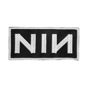 "Nine Inch Nails Logo 2x5"" Embroidered Patch"