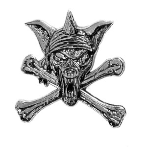 "Running Wild - Pirate 1.5"" Metal Badge Pin"