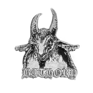 "Bathory - Goat 2x1.5"" Metal Badge Pin"