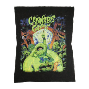 Cannabis Corpse - The Weeding Backpatch Misprinted/Crooked