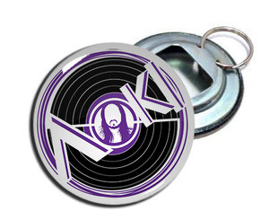 "Steve Aoki 2.25"" Metal Bottle Opener Keychain"