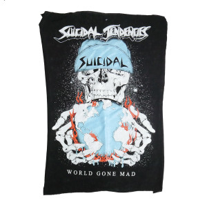 Suicidal Tendencies - World Gone Mad Backpatch Misprinted/Crooked