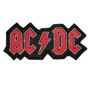 "AC/DC Logo 5x2"" Embroidered Patch"