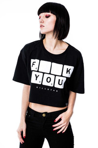 Killstar - Scrabble Crop Top