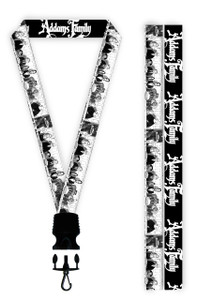Adams Family Cartoon Lanyard