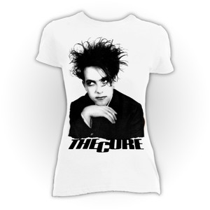 The Cure Robert Smith White Girls T-Shirt