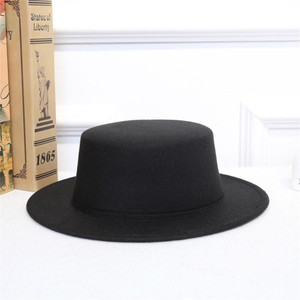 Unisex Black Rabbi Hat