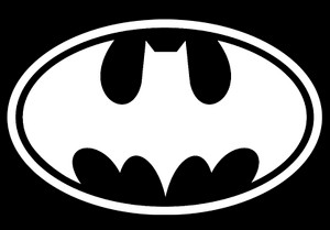 "Batman Logo 5x4"" Printed Sticker"