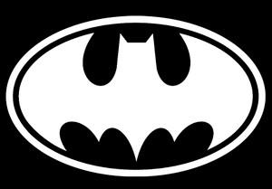 "Batman Logo 5x4"" Printed Sticker"