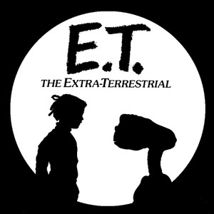 "E.T. The Extra-Terrestrial 4x4"" Printed Sticker"