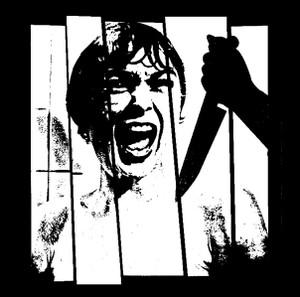 "Alfred Hitchcock's Psycho - Shower Scene 4x4"" Printed Sticker"