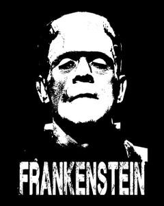 """Frankenstein 4x5"""" Printed Sticker"""