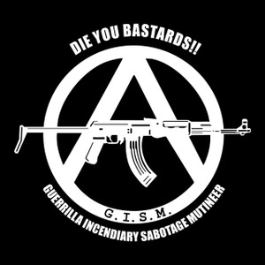 "G.I.S.M. - Die You Bastards! 4x4"" Printed Sticker"