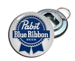 "Pabst Blue Ribbon Beer 2.25"" Metal Bottle Opener Keychain"