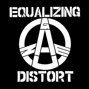 "Equalizing Distort Logo 4x4"" Printed Sticker"