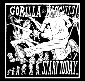 "Gorilla Biscuits - Start Today 4x4"" Printed Sticker"