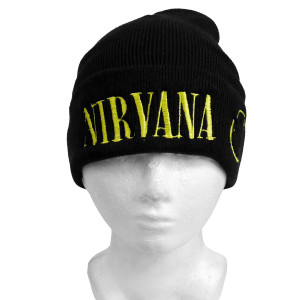 Nirvana Smiley Embroidered Beanie