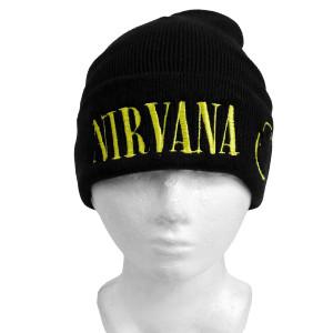 Nirvana Smiley Embroidered Beanie